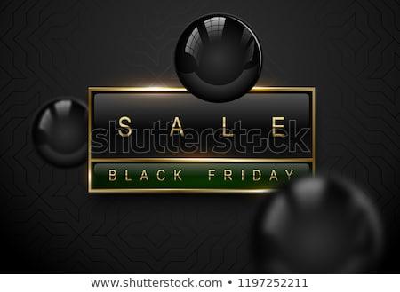 Verkoop black friday luxe banner gouden tekst Stockfoto © Iaroslava