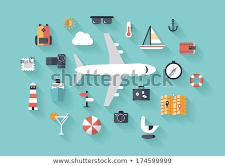 Stockfoto: Iconen · planning · vakantie · toerisme · reis