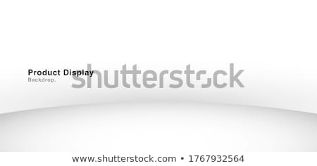 Product presentation podium, gray stage, Empty pedestal, blank template mockup. vector Stock photo © Andrei_