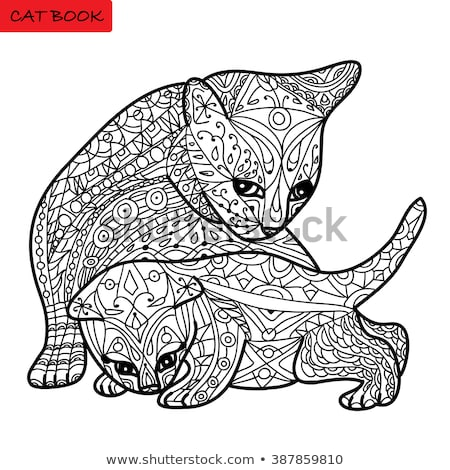 main colors coloring book with animals Stock photo © izakowski