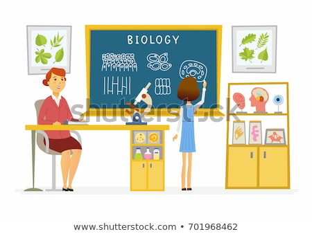 Biologie affiche microscope appareil scientifique Photo stock © robuart