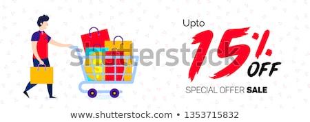 Anunciante por ciento gradiente compras signo Foto stock © cammep
