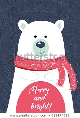 o · melhor · inverno · adesivos · conjunto · texto · papel - foto stock © balasoiu