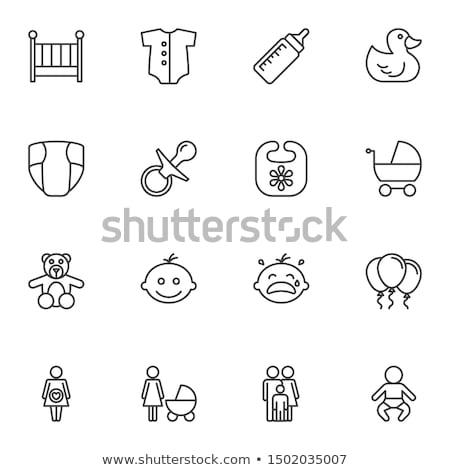 Luier vector icon geïsoleerd witte Stockfoto © smoki