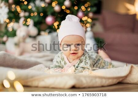 boldog · baba · ünnepel · karácsony · portré · derűs - stock fotó © Anna_Om