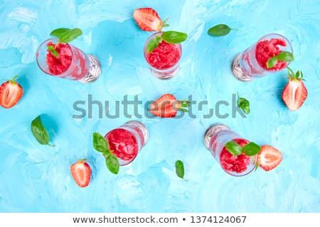 verão · morango · sorbet · beber - foto stock © Illia