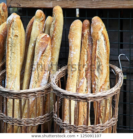 french baguette and bread in basket stock photo © vapi