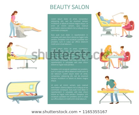 pedicure and manicure tanning posters set vector stock photo © robuart