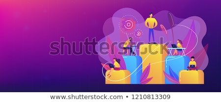 Business hierarchy concept banner header. Stock photo © RAStudio