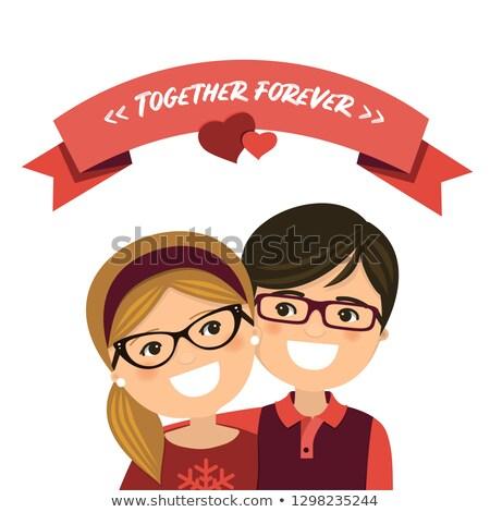 Valentine dia casal amor menino menina Foto stock © Imaagio