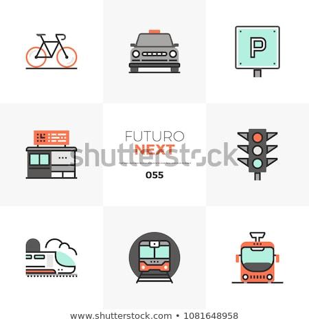 Tram rail logo icon business urban transport concept Stock photo © ESSL