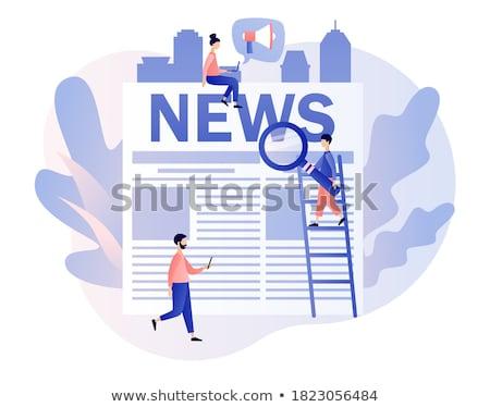 White word News Stock photo © Oakozhan