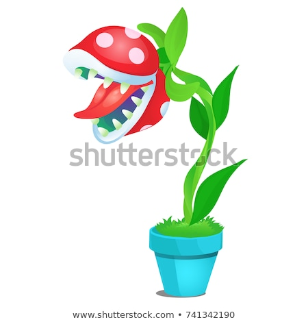 Fancy flower isolated on white background. Vector cartoon close-up illustration. Stock photo © Lady-Luck