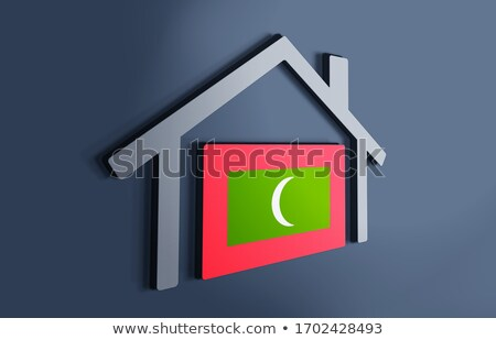 House with flag of maldives Stock photo © MikhailMishchenko