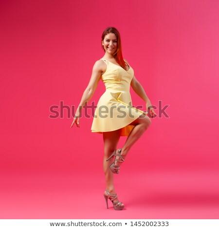 moda · modelo · nina · aislado · rosa · belleza - foto stock © studiolucky