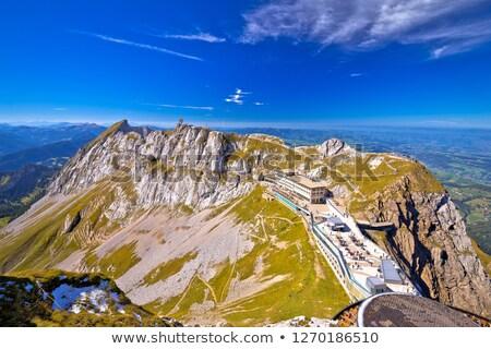 alpino · ver · paisagem · montanha · bandeira - foto stock © xbrchx