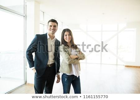 女性実業家 · サイド · 笑う · 孤立した · 笑い - ストックフォト © feedough