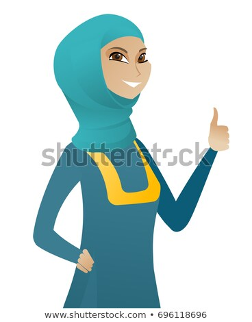 Heureux arabes femme d'affaires vecteur Photo stock © NikoDzhi