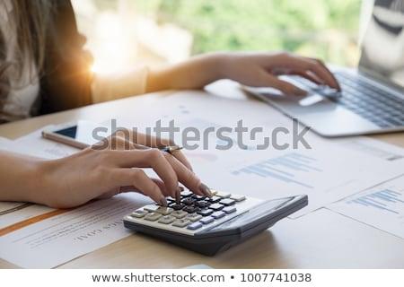 Business admin uit kantoor situatie werk Stockfoto © kitch