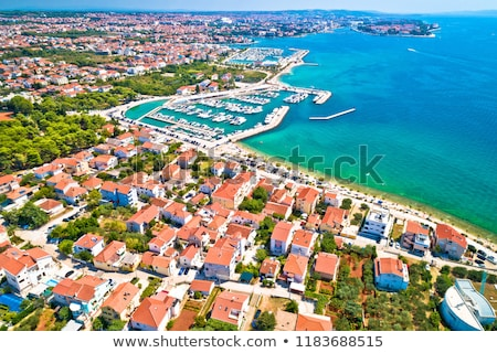 Puntamika peninsula in Zadar waterfront aerial summer view Stock photo © xbrchx