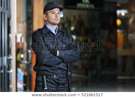 Security man standing Stock photo © netkov1