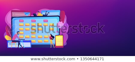 Software requisito descripción banner minúsculo Foto stock © RAStudio