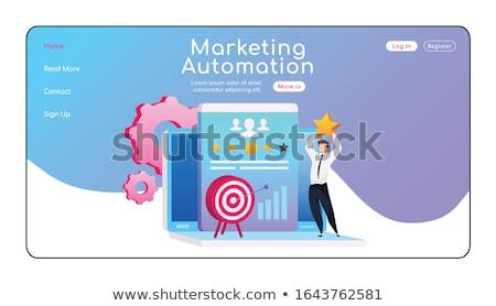Marketing automatizálás leszállás oldal üzenet pici Stock fotó © RAStudio