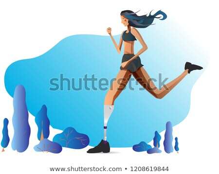 People With Bionic Legs Cartoon Vector Characters Stock photo © pikepicture