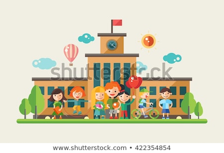 People on Playground, Website with Children Vector Сток-фото © robuart