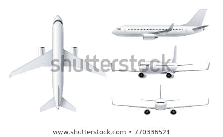 самолет · 3D · изометрический · белый · самолета · вектора - Сток-фото © genestro