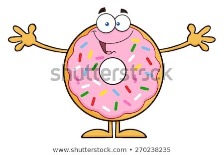 Funny Donut Cartoon Character Wanting A Hug Stock photo © hittoon