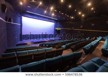 publiek · bioscoop · theater · entertainment · hal · vector - stockfoto © -talex-