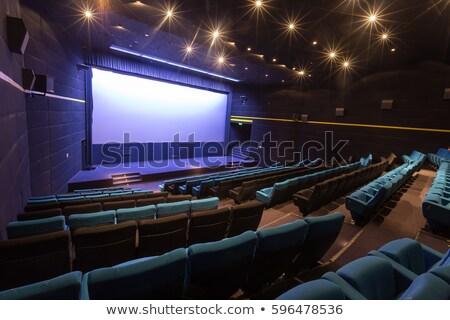 Cinéma auditorium public icônes transparent écran Photo stock © -TAlex-