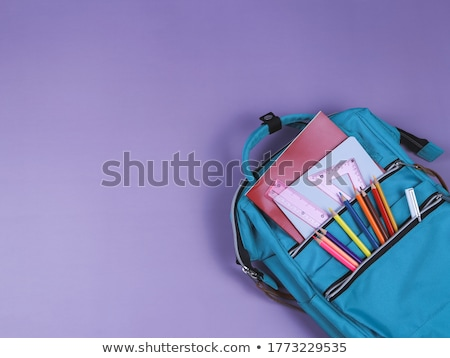 Colored school backpacks set pattern Stock photo © netkov1