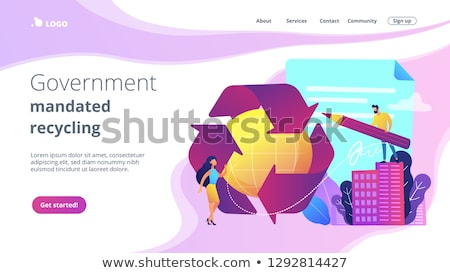 Government mandated recycling concept landing page. Stock photo © RAStudio