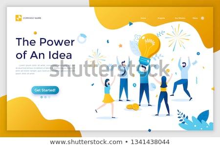 Negocios personas hombre mujer sitio web página Foto stock © robuart