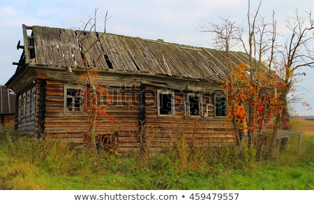木製 · 家 · 建設 · 冬 · 時間 · 携帯 - ストックフォト © fanfo