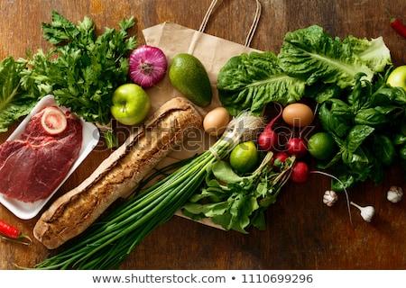 Szett különböző ételek illusztráció háttér művészet Stock fotó © bluering