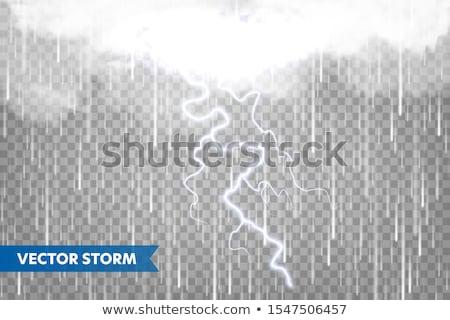 Időjárás zivatar eső felhők átlátszó cseppek Stock fotó © limbi007