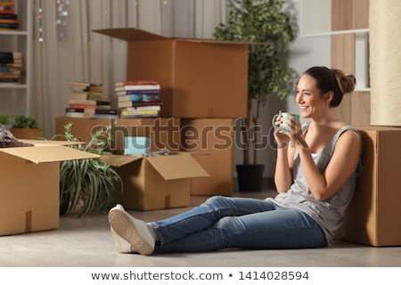 Student girl resting in coffee house Stock photo © pressmaster