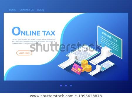 налоговых возврат службе изометрический 3D посадка Сток-фото © RAStudio