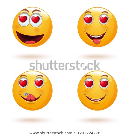 Amor emoticon icono cuadrados cara Foto stock © Krisdog