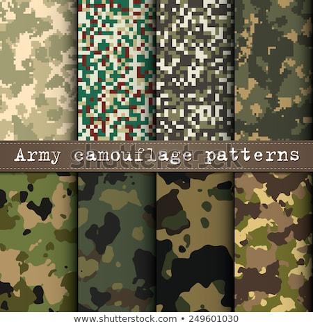 Militärischen Set Muster eps 10 Textur Stock foto © netkov1