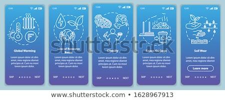Global warming app interface template. Stock photo © RAStudio