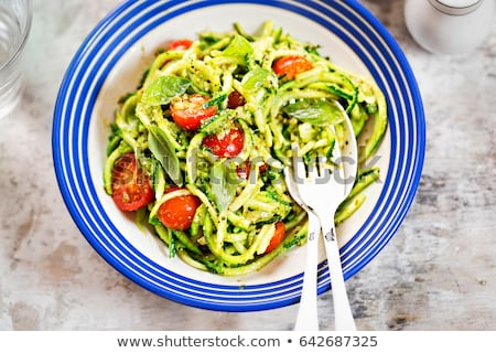 Raw green uncooked zucchini pasta Stock photo © furmanphoto