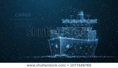 cargo ship with containers vector background stock photo © yurischmidt