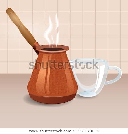 銅 コーヒー ポット ヴィンテージ グラインダー カップ ストックフォト © grafvision
