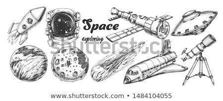 űrhajós űr kitettség öltöny monokróm vektor Stock fotó © pikepicture