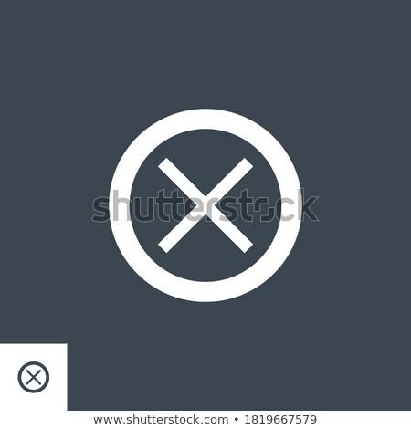 Cross Mark related vector glyph icon. Stock photo © smoki