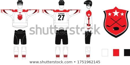 Ice Hockey Jersey Design Illustration Stock photo © artisticco